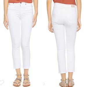M.i.h. Niki High Rise Cropped White Jeans